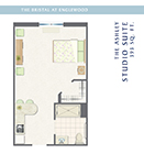The Bristal at Englewood Studio Suite Floor Plan