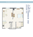The Bristal at Englewood One Bedroom Reflections Suite Floor Plan