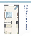 The Bristal at Englewood Two Bedroom Reflections Suite Floor Plan